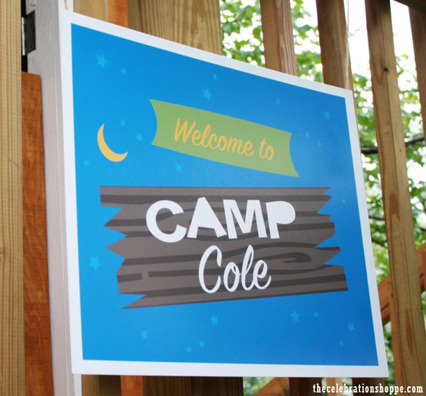 The celebration shoppe camp party sign 6059 wl