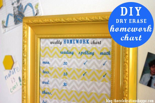 0 the celebration shoppe diy framed homework chart 7092 wt