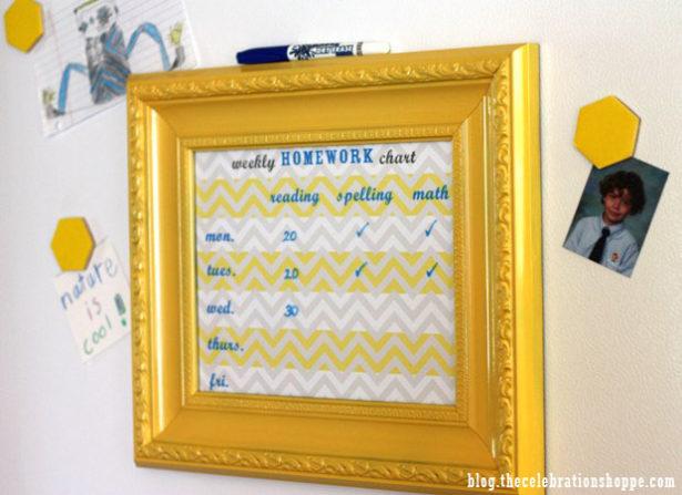 2 the celebration shoppe diy framed homework chart 70721