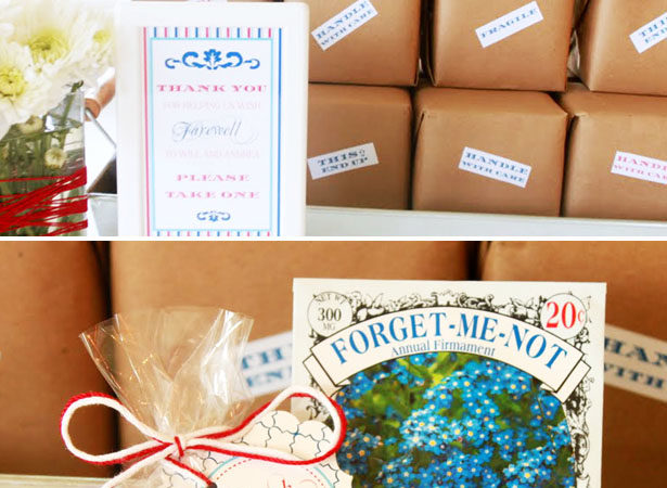 Moving party favor boxes