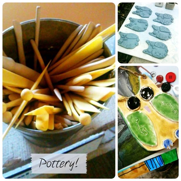 Owl pottery sm