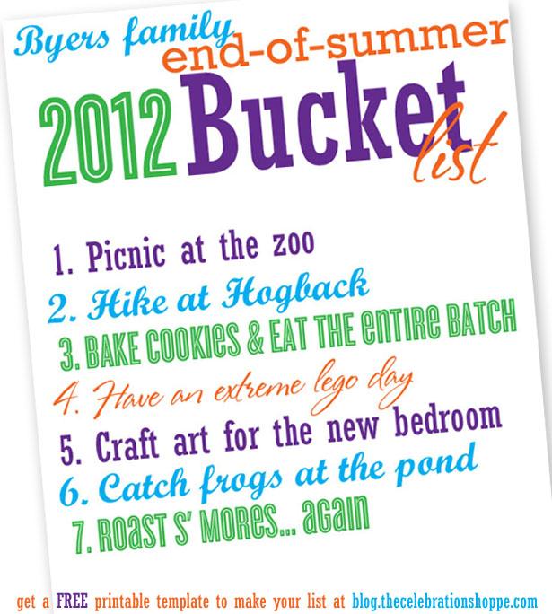 Tcs end of summer bucket list