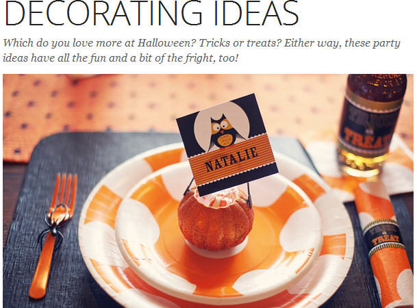 Boo tiful party decorating ideas