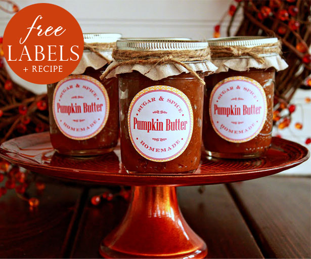Pumpkin butter recipe and free labels1