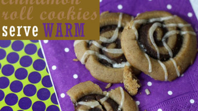 Serve cinnamon roll cookies warm 7939
