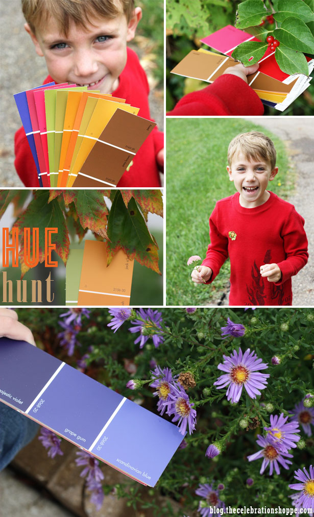 Fall Kid Activity - Fall Hue Hunt