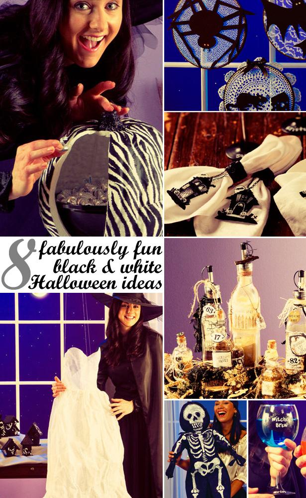 Black white halloween ideas with jo anns