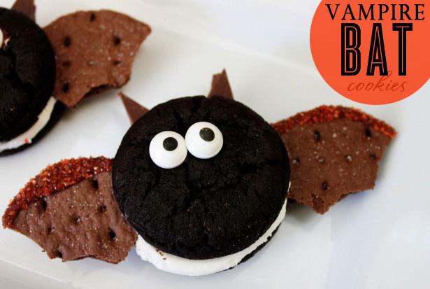 Easy oreo bat cookies f