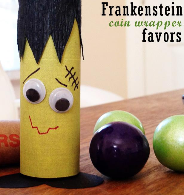 Frankenstein coin wrapper favors