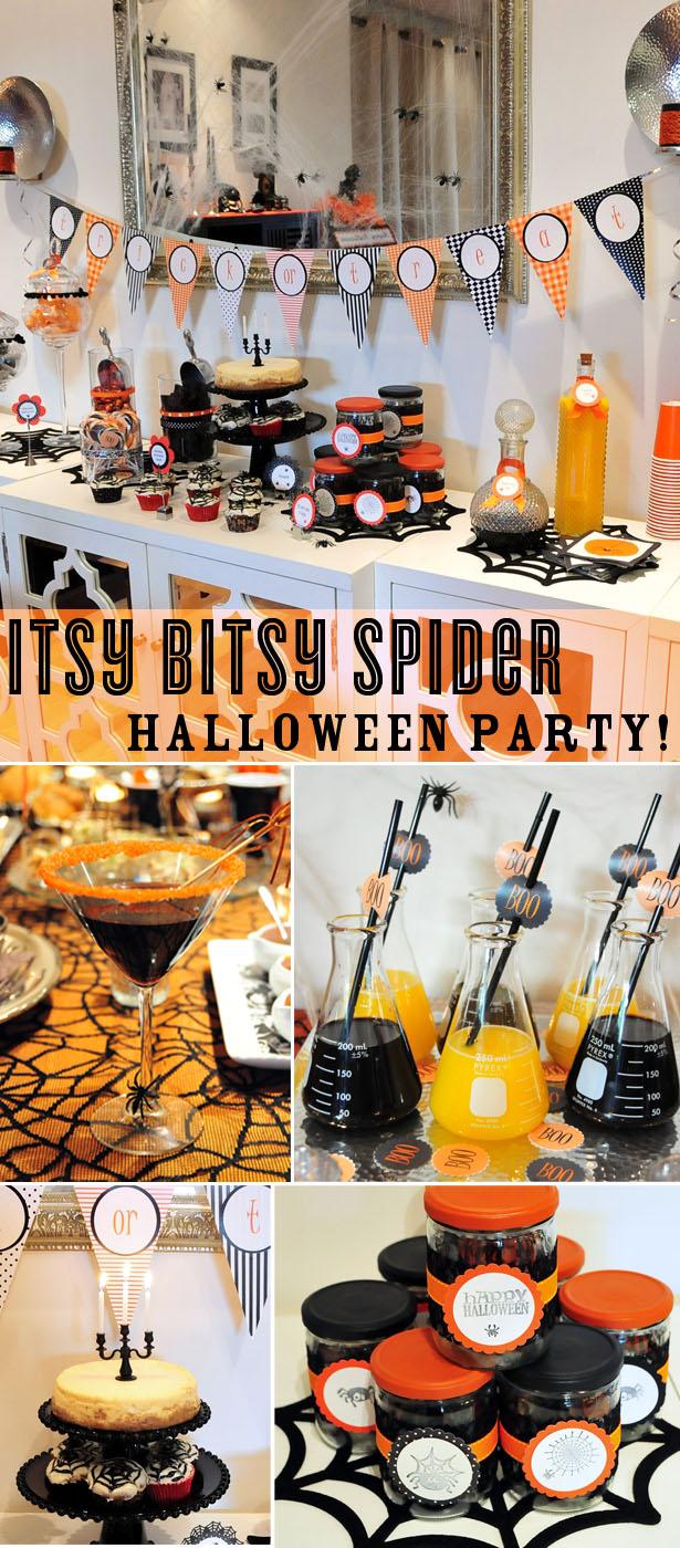 Itsy Bitsy Spider Halloween Party Ideas | Kim Byers
