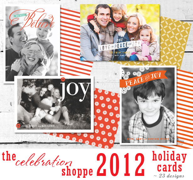 The celebration shoppe 2012 holiday photo cards 23