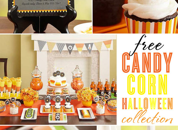 The celebration shoppe candy corn party collection