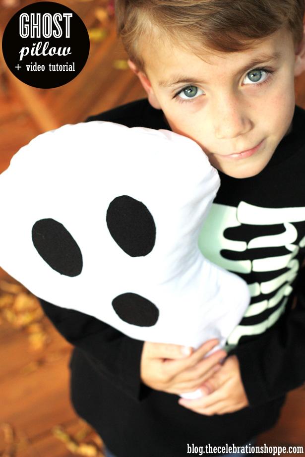 DIY Ghost Pillow + Video Tutorial | Kim Byers