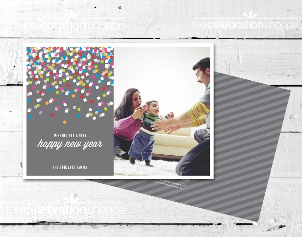 The celebration shoppe happy new year confetti card sm