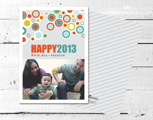 The celebration shoppe mod circles christmas card sm