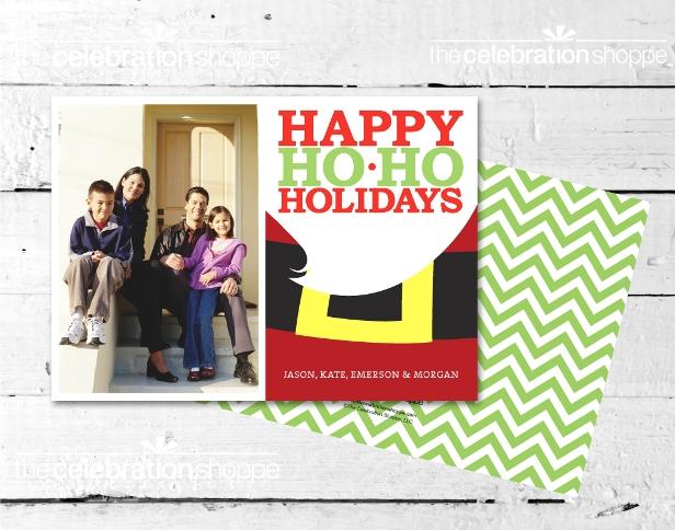 The celebration shoppe santa belt christmas card sm