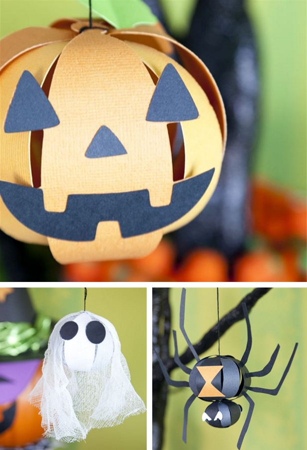 Make these paper Halloween ornaments with your Cricut | Kim Byers