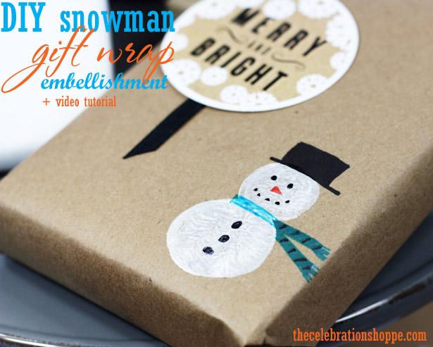 1 snowman gift wrap craft