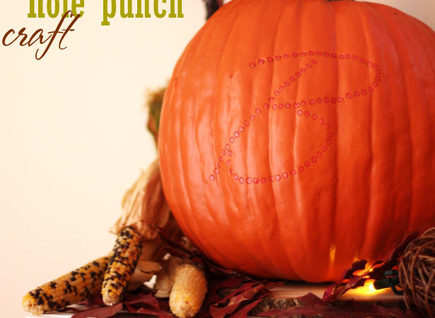 1a how to monogram a pumpkin hole punch craft