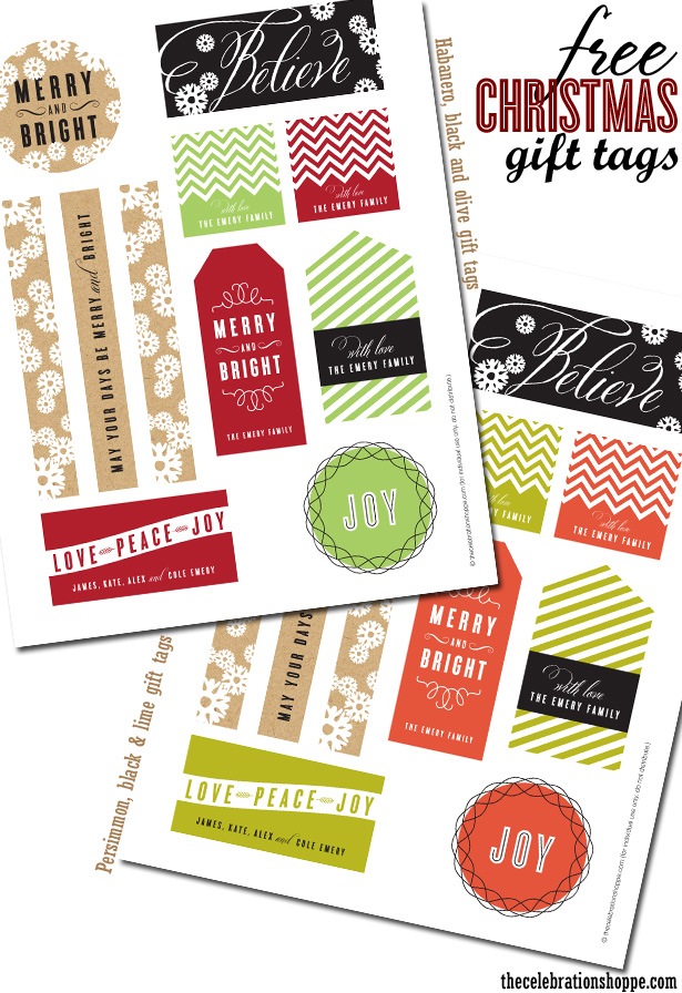 Free printable christmas gift tags 21