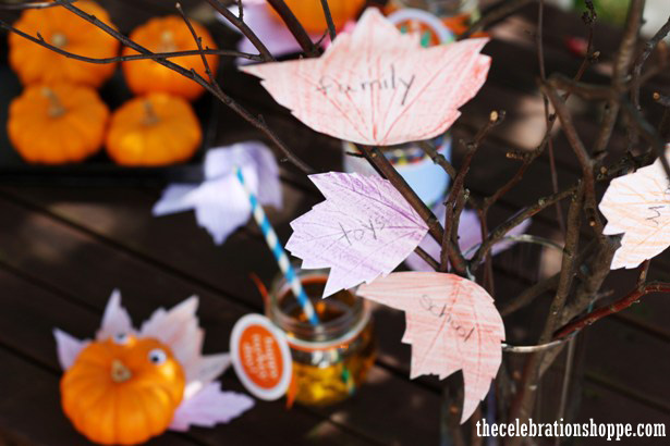 Thanksgiving thankful tree craft from thecelebrationshoppe com
