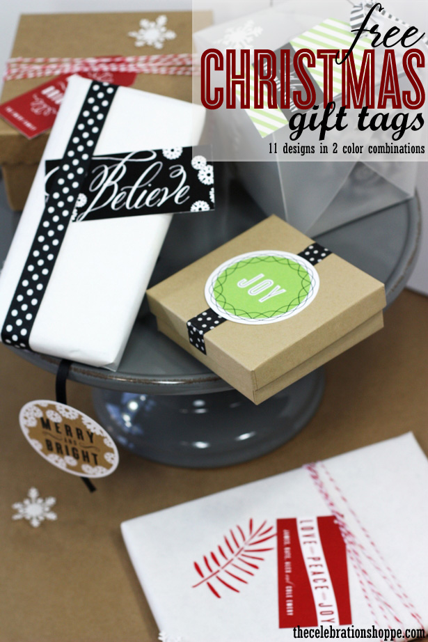 The celebration shoppe christmas gift tags 9267wt