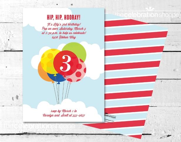 The celebration shoppe up balloon party invitation blog