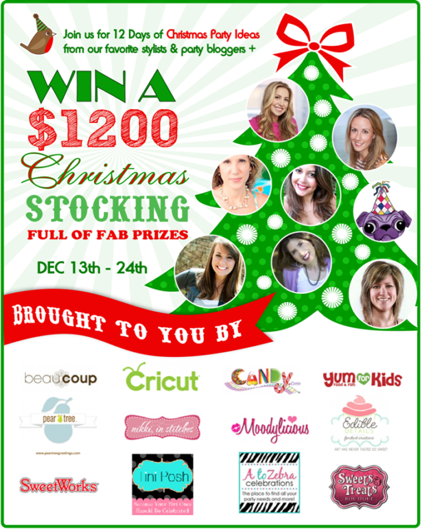 12 days of christmas pin party giveaway graphics