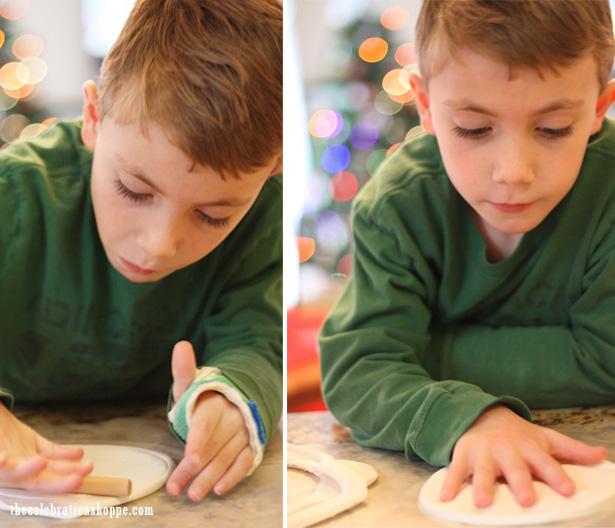 3 pottery barn kids handprint ornament keepsake