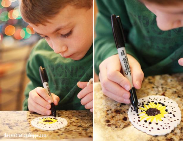 5 pottery barn kids handprint ornament keepsake