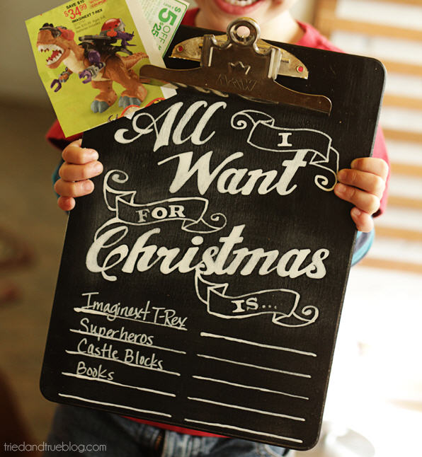 Diy chalk christmas wishlist 2