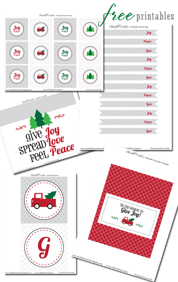 Free vintage truck christmas party printables