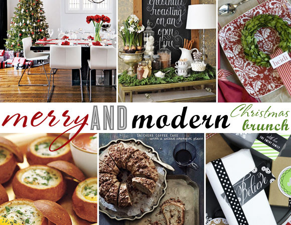 Merry and modern christmas brunch
