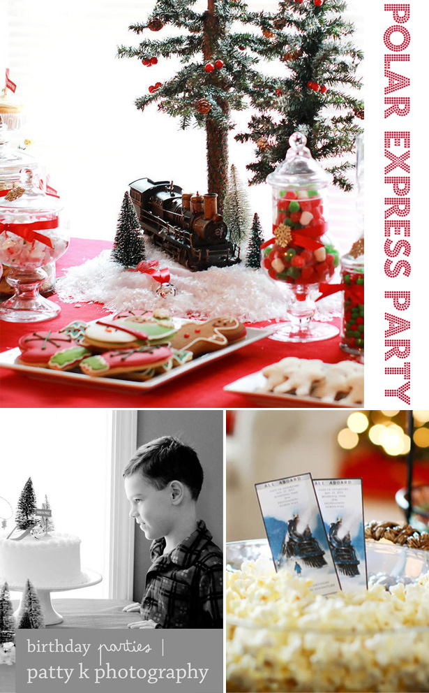 Polar express party desserts