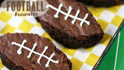 Easy football party brownies
