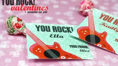 Free valentine printable template