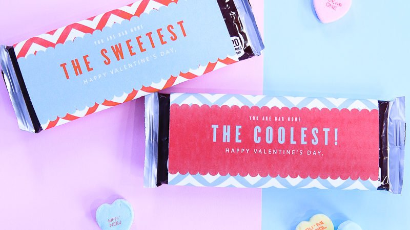 Valentine candy bar wrapper kim byers