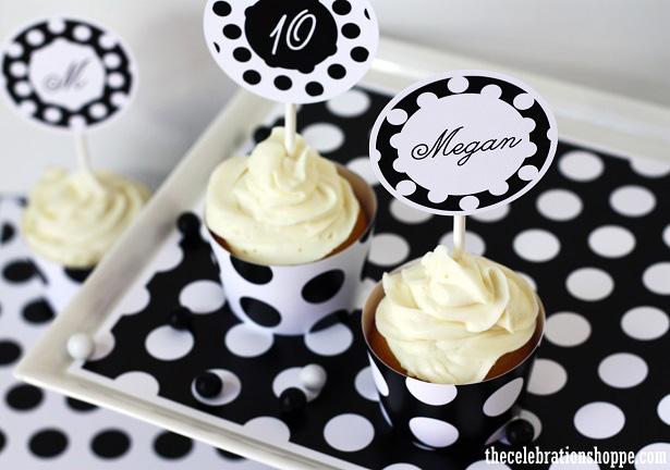 1 black white polka dots 7150wt