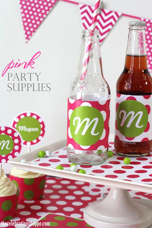 21 the celebration shoppe pink polka dot 7085wt