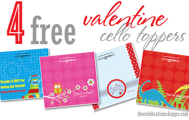 FREE Valentine Cello Toppers