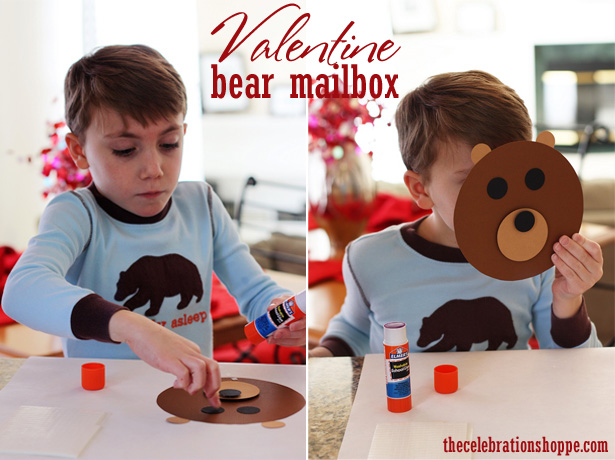 Diy valentine bear mailbox wt