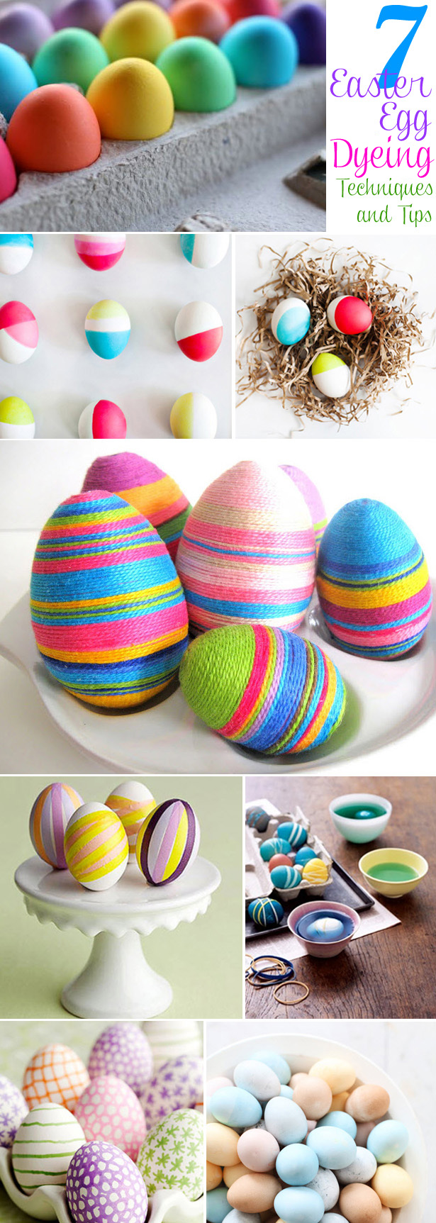 7 Easter Egg Dying Techniques & Ideas