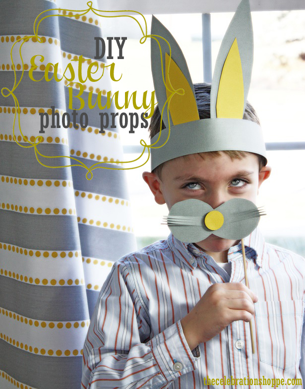 Diy easter bunny photo props fwt