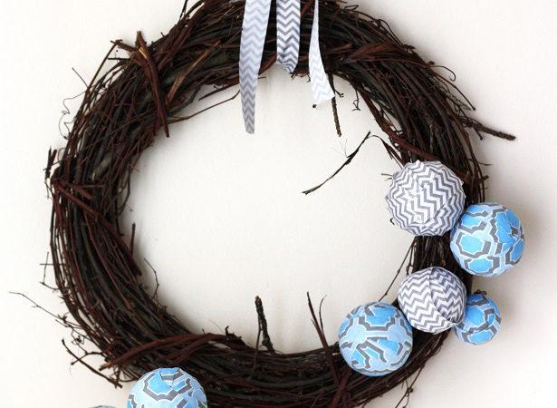 The celebration shoppe blue wrap spring wreath 8260 615wt