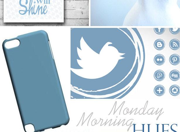 Dusk blue pantone monday morning hues