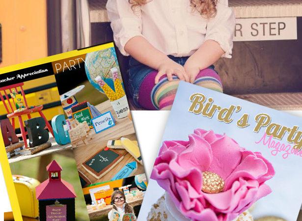 Teacher appreciation party in birds party magazine