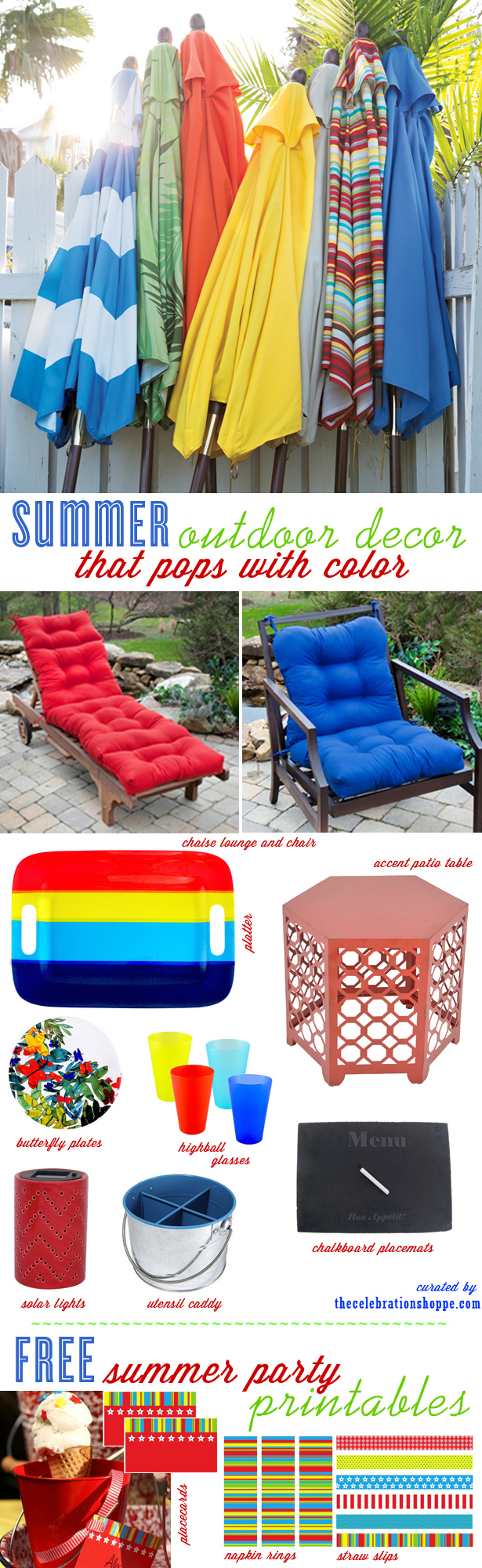 Outdoor furniture patio ideas free party printables
