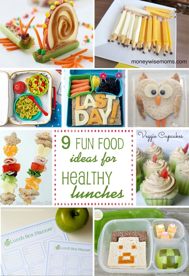 Fun food ideas for healthy lunches