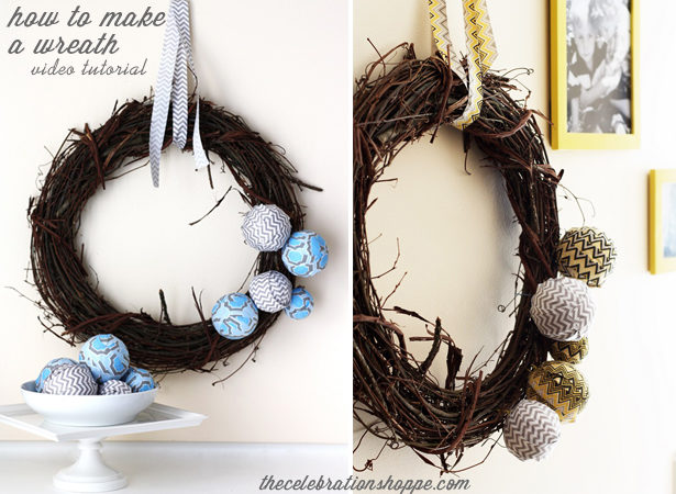 How to make a wreath video tutorial
