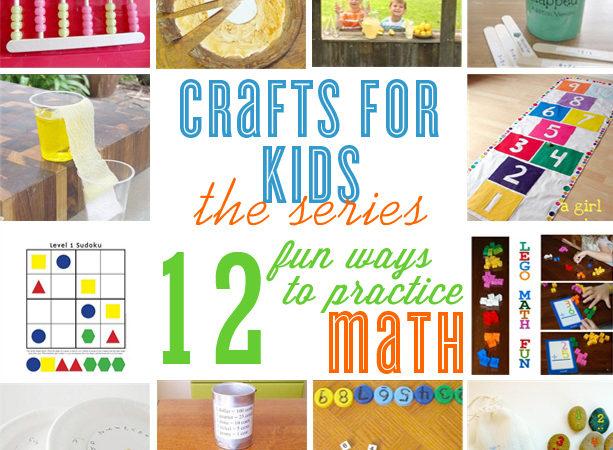 12 summer math crafts for kids